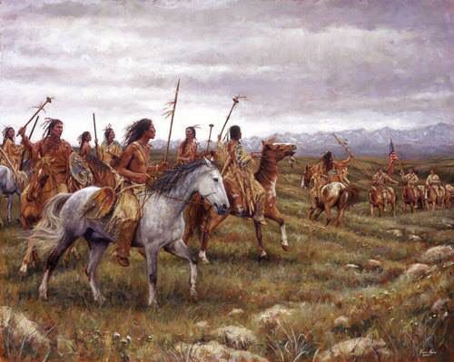 Clark Encounter American Native Lewis And