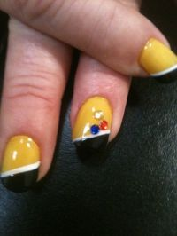 STEELER NAILS PINTREST | Steelers nails | nails ...
