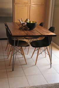 Organic Modern Rustic Dining Table with Hairpin legs on ...