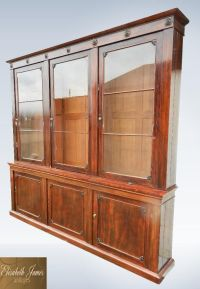 Large Antique Library Bookcase From Post Regency Georgian ...