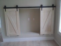 Barn Doors with carmel glaze
