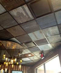 corrugated metal drop ceiling tiles