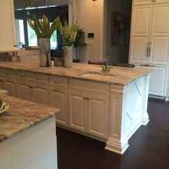 Beautiful Kitchen Islands Bar For Fantasy Brown Quartzite With White Cabinets And ...