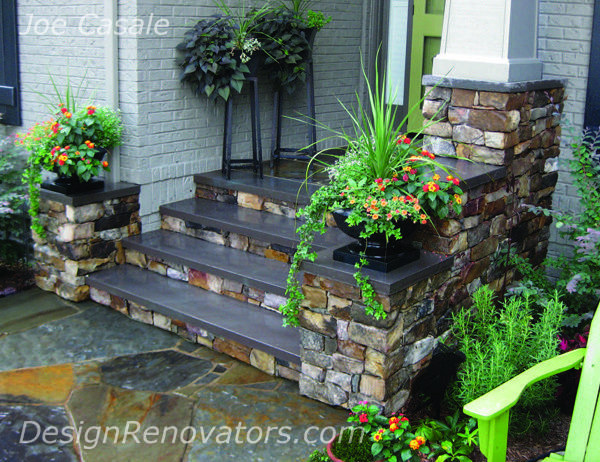 Stone Front Entry Steps and Walkway  House  Pinterest  The rock The ojays and Porches