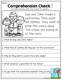Short Stories with comprehension questions! | First Grade ...