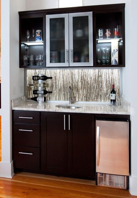 WetBarsforSmallSpaces Wet bar ideas Small wet bars