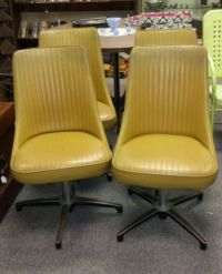 4 Vintage Retro Yellow Chromcraft Kitchen Dining Chairs ...