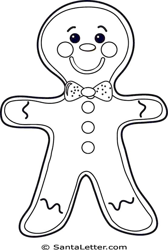 25+ best ideas about Gingerbread Man Coloring Page on