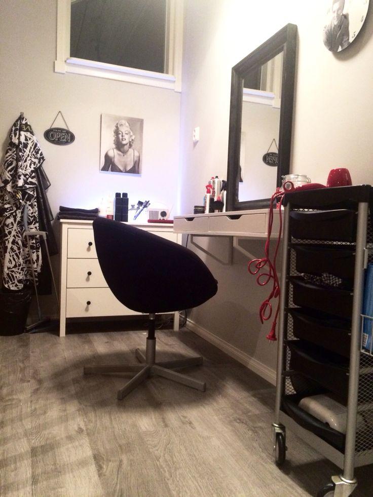 makeup desk chair wheelchair commode 25+ best ideas about ikea salon station on pinterest | vanity table organization, ...