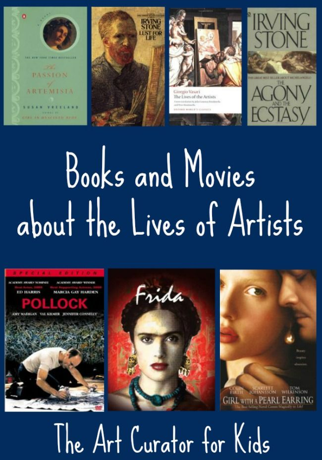 The Art Curator for Kids – Artist Biographies for Adults, Books and Movies – Michelangelo, van Gogh, Vasari, Artemisia