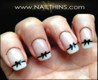 Black Bow Nail Decal Bow Nail Art NAILTHINS | Nail decals ...