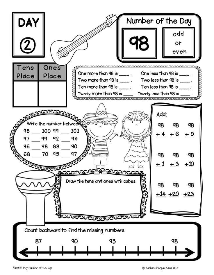 First Grade Math Place Value Bundle Number of the Day