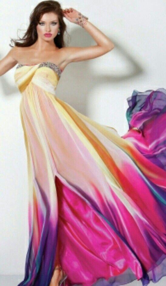 Multi Colored Prom Dress Prom Pinterest Dresses