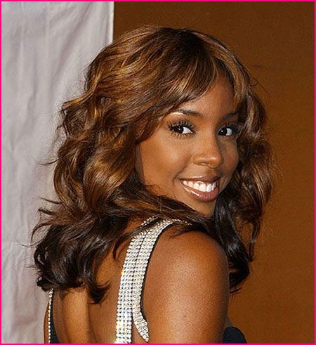 Dark brown hair with caramel highlights... #kellyrowland #