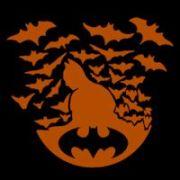 batman with bats - pumpkin pattern
