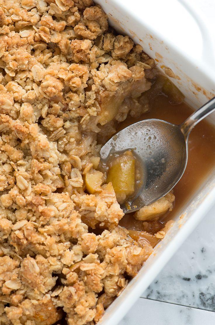 easy apple crisp with oats recipe recipes