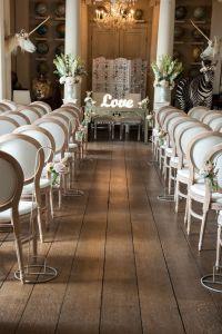 Louis Wedding Chair creating a perfect ceremony aisle ...