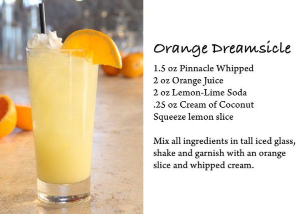 orange dreamsicle with pinnacle vodka Pinnacle Vodka