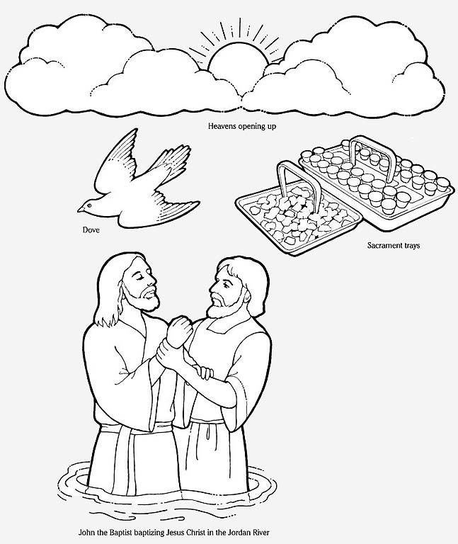 flannel board figures to make to teach The Baptism of