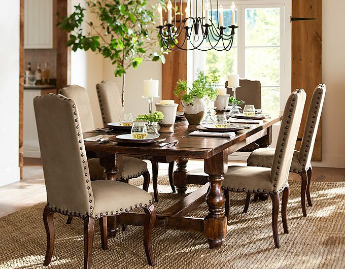 78 images about pottery barn dining room on Pinterest  Pottery French country dining table