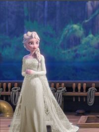 Frozen's Elsa,wearing wedding dress- I'd like to have a ...
