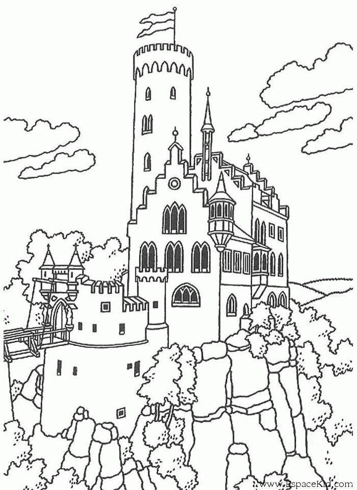 45 best images about Coloriages Chateaux on Pinterest