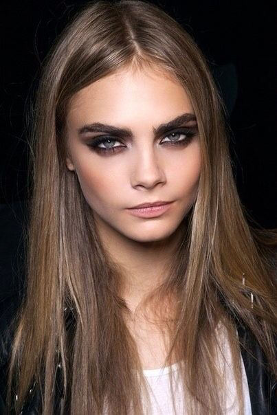 TheyAllHateUs Cara Delevigne does perfection | Eyebrow Envy | Pinterest | Cara delevingne. Smoky eye and Soft summer