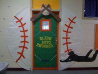 classroom door baseball slide into second school door ...