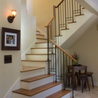 Split stair with central landing - Switchback Stairs ...