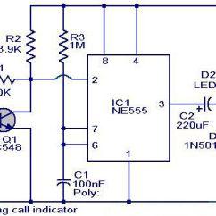 Mini Usb Power Wiring Diagram Alpine Type R 12 Mobile Incoming Call Indicator Circuit   Electronic Circuits Pinterest ...