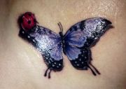 butterfly lady bug tattoo hair