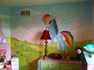 pony bedroom mural rooms mlp bedrooms decor wall findamuralist dash murals