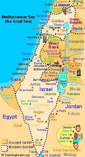 Map of modern Israel ISRAEL Pinterest Peace Search