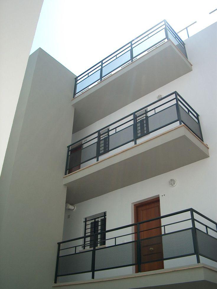 Edificios Moderno Balcon Exterior Puertas