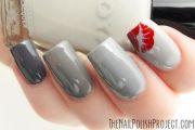 beautiful grey nails #grey #red
