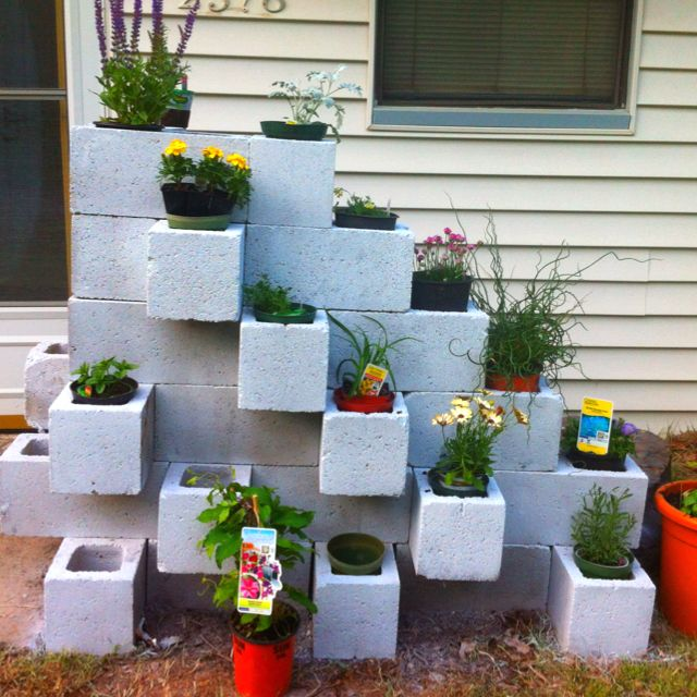 The 35 Best Images About Cinder Block Garden Ideas On Pinterest