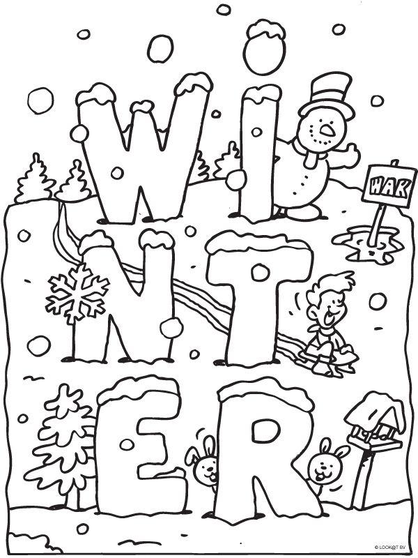 1000+ images about Winter Kleurplaten on Pinterest