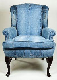 Denim upholstered chair | House and Garden | Pinterest ...