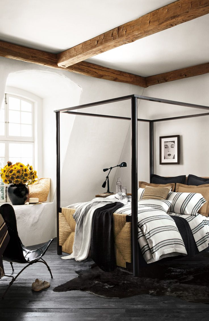 Ralph Lauren Homes fourpost canopy bed with head and