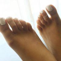 25+ best ideas about White toenails on Pinterest | White ...