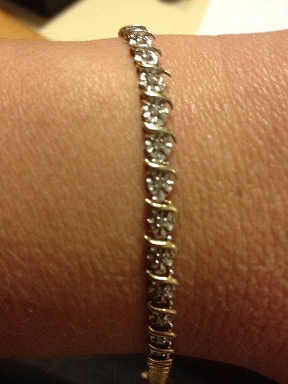 Diamond Bracelet 10k Gold Tennis 5 4 Grams Kay Jewelers Genuine Vintage Jewelry Jewellry 7 25