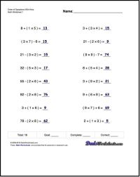 If you are looking for order of operations worksheets that ...