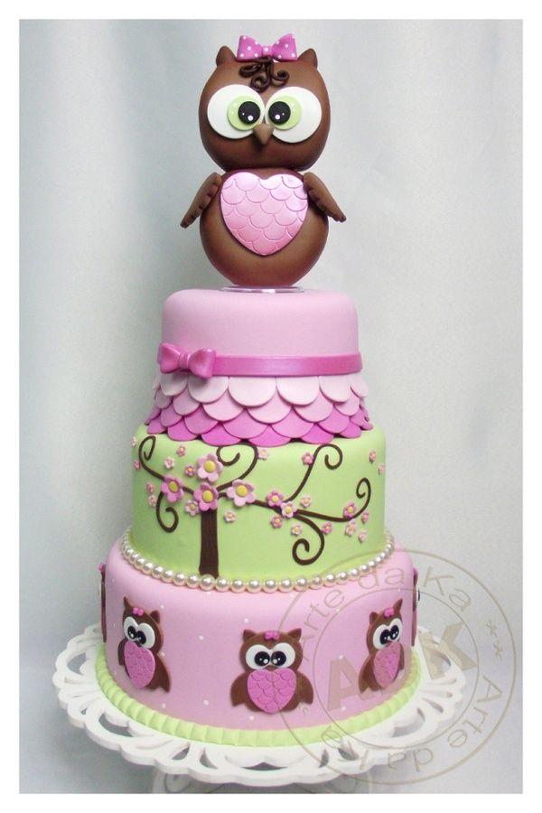 owl cake super cute for bab