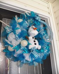 Frozen Wreath with Olaf Frozen Decoration by ...