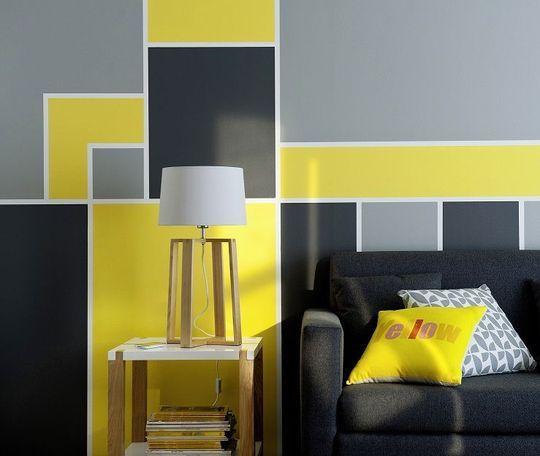 17 Best images about mur graphique en peinture on Pinterest  Painted walls Geometric shapes