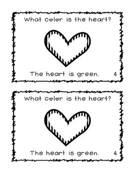 What Color Is The Heart? Easy Valentine Sight Word Reader