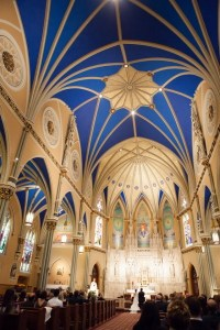 blue domed ceiling, st. alphonsus church, chicago | Church ...