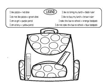 This is a backpack glyph activity. Your students will