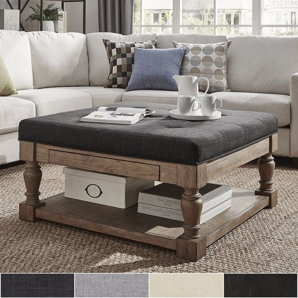 how to decorate my living room rustic indoor privacy screen furniture best 20+ ottoman coffee tables ideas on pinterest   tufted ...