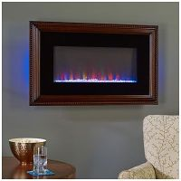"36"" Wall Mount Wood Frame Electric Fireplace at Big Lots ..."